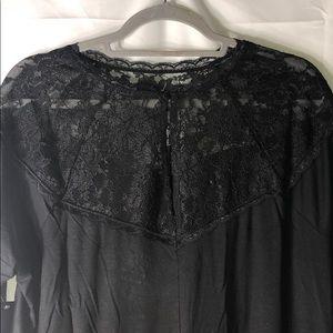 torrid Tops - 🆕 Torrid Super Soft Black Lace High Neck Tee